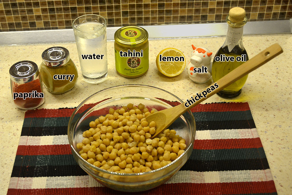 ingredients for hummus